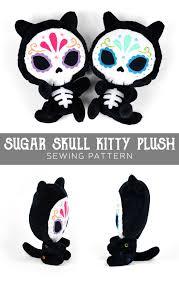 free pattern friday sugar skull kitty plush choly knight