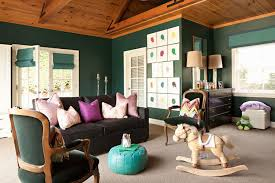 hunter green walls contemporary nursery jenn feldman designs