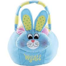 personalized easter basket personalized plush easter basket blue bunny walmart
