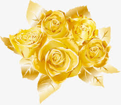 golden roses painted golden gold color painted