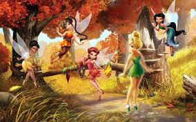 tinker bell backgrounds group 62 tinkerbell and friends playing in forest jpg