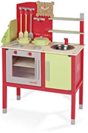 cuisine janod janod 06520 wooden kitchen amazon co uk toys