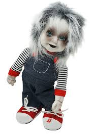 animated zombie doll with sound creepy standing halloween