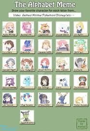 Alphabet Meme - alphabet meme by kingkero on deviantart