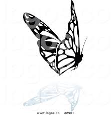 royalty free flying butterfly vector clipart logo by dero 2901