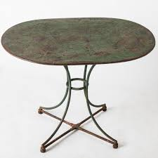 Repainting Wrought Iron Furniture by A French Green Painted Wrought Iron Center Table Circa 1880