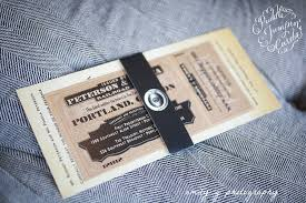vintage train ticket invitation