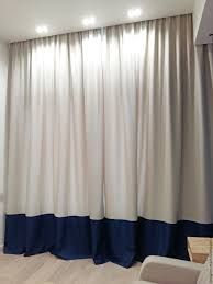 buy curtains are beige with piping in loft style on livemaster