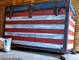 American Flag Home Decor Painted Flag Trunk Guest Post Country Chic Paint
