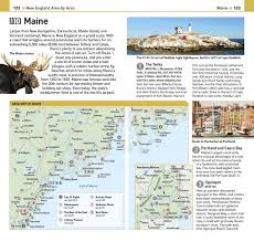 New England Area Map by Top 10 New England Eyewitness Top 10 Travel Guide Dk Travel