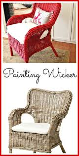 before u0026 after updating an old wicker chair wicker chairs