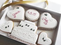 wedding cookies personalised wedding cookie gift box funky food gifts
