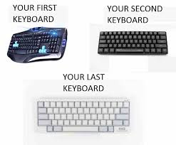 Keyboard Meme - keyboard evolution x post r mechanicalkeyboards pcmasterrace