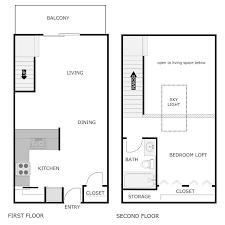 Loft Apartment Floor Plan Ashford Floor Plans Dublin Trail Apartments