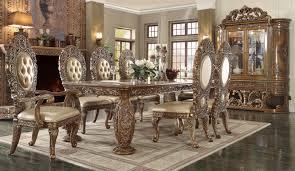 european dining room sets 8018 dark brown dining set homey design victorian european
