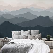 wallpaper for bedroom walls mountain mural wall art wallpaper peel and stick