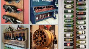 diy wine rack ideas creative wine shelf diy home decor youtube