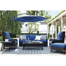 furniture blue cushion seat by sunbrella outdoor furniture for