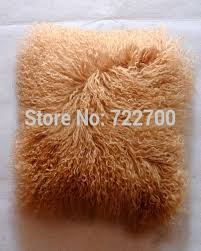 White Fur Cushions Compare Prices On Mongolian Fur Cushions Online Shopping Buy Low
