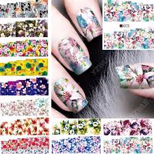 aliexpress com buy 12 sheets beauty colorful flower design nail
