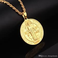 gold jesus pendant necklace images Wholesale mens mini micro round jesus piece charm chain 18k gold jpg