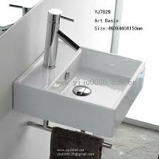 Small Wall Mounted Sinks For Bathrooms Interesting Simple Modern Bathroom Sink Design Ideas With Brown