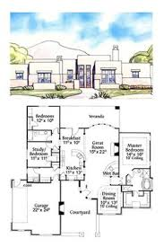 adobe home plans adobe cool house plan id chp 40691 total living area 2431 sq