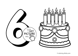 6 numbers coloring pages for kids printable free digits coloring