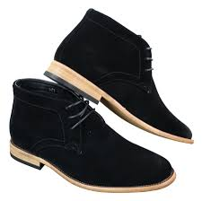 mens suede lace ankle chukka boots chelsea dealer shoes navy blue