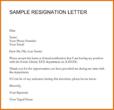 10 sle resignation letter basic appication letter sle of
