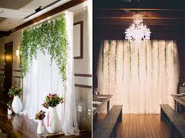 wedding backdrops diy pipe and drape wedding backdrops hanging vines rustic wedding