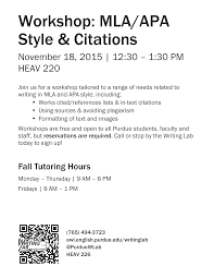 apa format notes mla apa style and citation workshop nov 18th purdue ie undergrad
