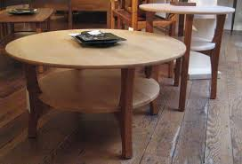 Round Coffee Table With Shelf Cottage Industries Handcrafed Living Room Furniture Www
