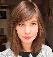 below shoulders a line haircut 40 side swept bangs to sweep you off your feet side bangs