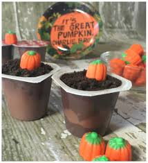 it u0027s the great pumpkin charlie brown pudding cups