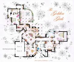 Favorite House Plans See The Floor Plans From Your Favorite Tv Homes Golden Girls And