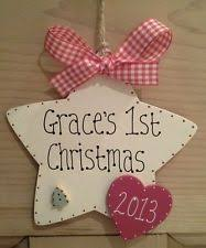 Personalised Baby S First Christmas Tree Bauble by Best 25 Personalised Christmas Decorations Ideas On Pinterest