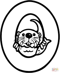 letter otter coloring free printable coloring pages