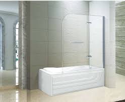 bifold shower door frameless frameless swing bathtub shower door bi fold 2 panels
