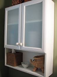 stylish frosted glass bathroom cabinet doors with white round