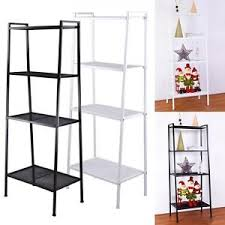 bookshelves metal 58 u0026 034 4 shelf bookcase storage metal ladder fram rack furniture