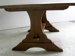 trestle base dining table hybrid trestle base for dining table country boston by