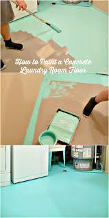 basement update how to paint a concrete laundry room floor