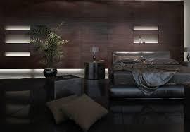 dark interior dark style interior rendering of bedroom interior design