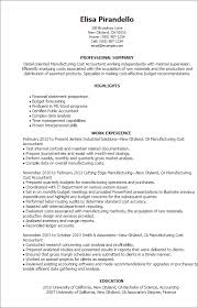 Sample Resume Of Cpa by Professional Manufacturing Cost Accountant Templates To Showcase