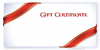 gift card free printable gift certificate templates