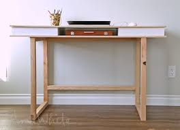 Diy Modern Desk White Modern 2x2 Desk Base For Build Your Own Study Desk