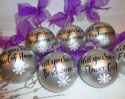 will you be my bridesmaid ornaments painted ornaments