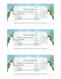 holiday snowman gift certificate template template for publisher