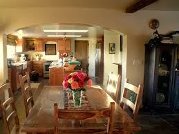 spanish style kitchen design traditional idea of brown wood dining set and cream wall the e